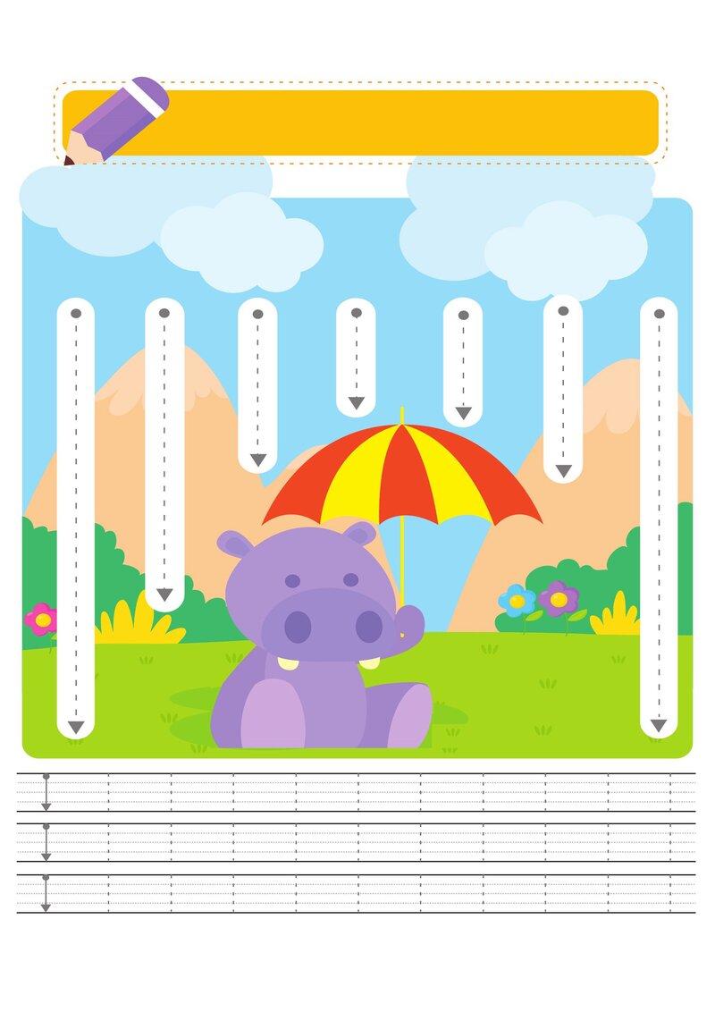 Скачать красочные прописи для маленьких дошколят